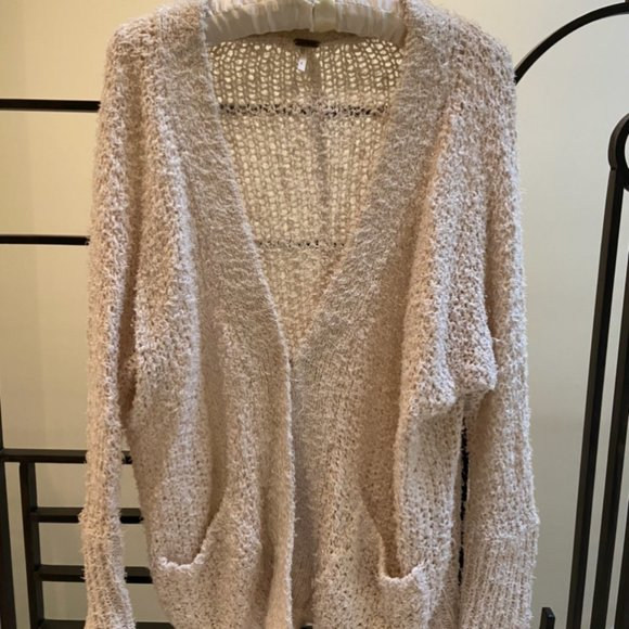 Free People Knit Cream Sweater